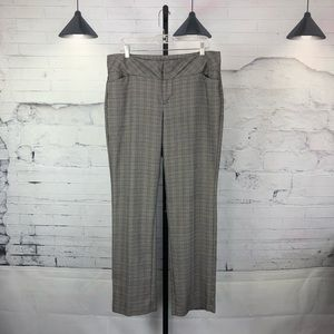 ELLE Checkered Dress Pant Trouser Grey 1553